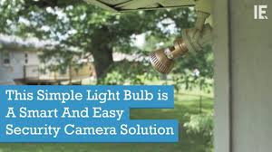 this simple light bulb is a smart and easy security