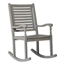 Gray Wash Acacia Patio Rocking Chair