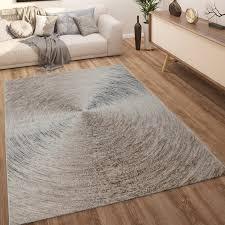 teppich wohnzimmer kurzflor abstraktes natur muster mit farbverlauf beige braun