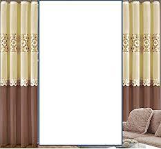 rodnik vorhänge gardinen set 150cm x 250cm vanille braun mit blumen muster dekoschals seitenschals