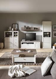 kieferfarben landhausstil charmanten wohnwand grau in