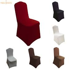 SG Shopping 6 Pieces Elegant Stretch Strap-free Chair Covers Bl (Wine Red)