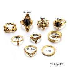 2019 Vecalon Antique Ring Princess Cut Amethyst Simulated Diamond