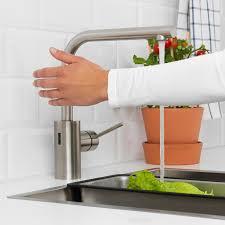 tämnaren mischbatterie küche mit sensor stahlfarben