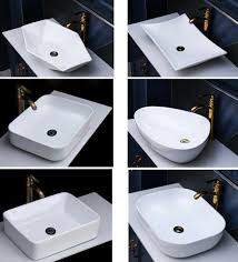waschbecken keramik aufsatz eckig oval kreis handwaschbecken
