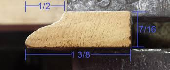 stop moulding profile how to measure and mill woodworking talk