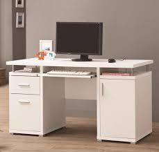 Techni Mobili Computer Desk With Side Cabinet by Coaster Desks White Computer Desk With 2 Drawers U0026 Cabinet