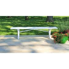 Outdoor Bench Cushions Home Depot by Dura Trel White Vinyl 6 Ft Patio Bench 11125 The Home Depot