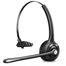 TSV Pro Trucker Bluetooth Headset Cell Phone Headset with