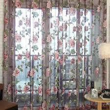 vova lila blumenvorhänge gardinen für wohnzimmer vorhänge
