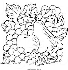 logo of black and white apple pear clipart
