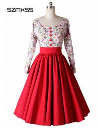 online get cheap long sleeve rockabilly dress aliexpress com
