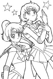 Sailor Moon And Devoted Friends Coloring For Kids