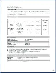 Downloadable Resume Formats For Experienced Free Download Job