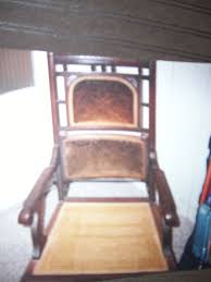 For Sale By Owner: Antique Rocking Chair | Morris Township ... Victorian Rocking Chair Image 0 Eastlake Upholstery Fabric Application Details About Early Rocker Rocking Chair Platform Rocker Colonial Creations Mid Century Antique Restoration Broken To Beautiful 19th Mahogany New Upholstery Platform Eastlake Govisionclub Illinois Circa Victoria Auction