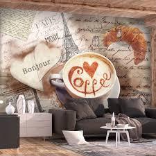 kaffee küche vlies fototapeten holz optik tapete natur