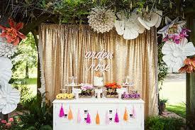 Sweet Table From A First Birthday Garden Party Via Karas Ideas Karaspartyideascom