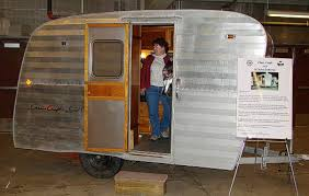 A Restored Airstream Trailer Was Decorated With Rustic Interior