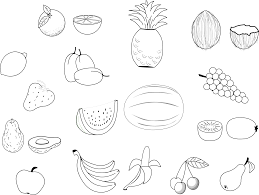 Printable Fruit Coloring Pages