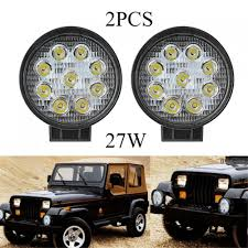 Hot 1 Pair 27W LED Work Light Round Flood/Spot Lamp ATV SUV Off-road ... Truck Lite Led Work Light 4 81520 Trucklite Pair 27w Epistar Square Offroad Flood Lamp Boat Jiawen Car Styling 30w Dc12 24v For Safego 2pcs Work Lights 12v 24v 27w Led Lamps Car Trucks Adds White Auxiliary To Signalstat Lineup X 6 High Powered Beam 1200 Lumens Riorand Water Proof 2 60 Degree Luxurius Lights For Trucks F21 In Stunning Selection With Inch Pod Cree 60w Tri Row Bar Combo 2x 18w Pods Spot Atv Jeep Ute Great 64 On Definition 12 Inch 72w Vehicle