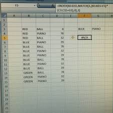 INDEXMATCH With 2 Criteria Boolean Excel