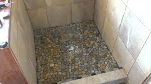 pebble tile shower floor design robinson house decor