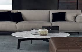 Crate And Barrel Tribeca Floor Lamp by Poliform Tribeca Round Marble Coffee Table Tribeca Sofa By Jean