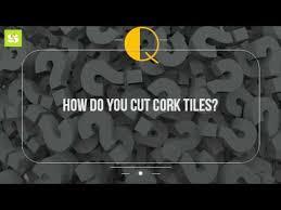 how do you cut cork tiles