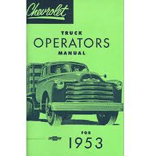 100 Classic Truck Parts 1953 Chevy Owners Manual EBay