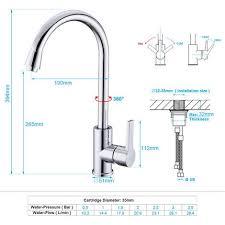 armatur einhebel wasserhahn küchenarmatur waschtischarmatur mischbatterie waschbecken spültischarmatur 360 drehbar schwenkbarer mit weißem griff für
