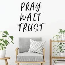 Amazoncom Prayer Wall Decal Pray Wait Trust Christian