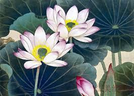 High Quality Chinese Art Painting Lotus Flower Mandarin Duck