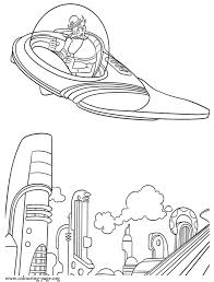 Bowler Hat Guy In The Time Machine Printable Coloring Page