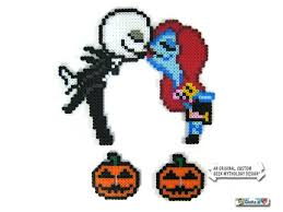 Halloween Hama Bead Patterns by Nightmare Before Christmas Jack And Sally Perler Art Wedding Or