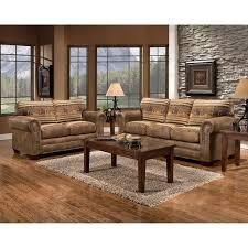 Broyhill Laramie Microfiber Sofa In Distressed Brown by Wild Horses Sofa Free Shipping Today Overstock Com 16398067