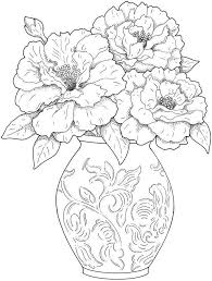 Get This Detailed Flower Coloring Pages For Adults Printable