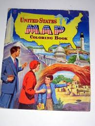 Vintage 1955 United States Map Coloring Book For By Paintedpony99 1500
