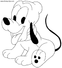 Baby Pluto Mickey Mouse Printable Coloring Pages
