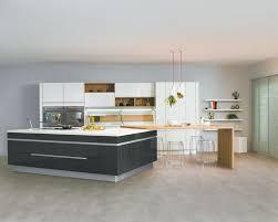 cuisine avec presqu ile cuisine tendance grise modèle expression