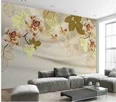 3d stereoskopische tapete gold blumen wallpaper 3d blume dekoration tapete badezimmer