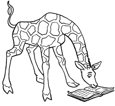 Cute Giraffe Coloring Pages Printable Images Online Giraffes Cant Dance Of Full Size