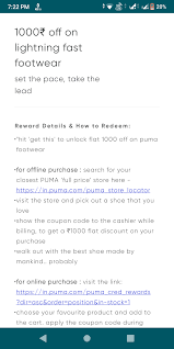 1000 Off Voucher @ Puma Shoes From Cred App 50k Credits ... Ppt Economize Your Beauty And Shoe Shopping By Using Puma Namshi Exclusive Discount Coupons Puma Buy Shoes On Sale Pwrcool Slogan Tank Tops Pink Coupon Code For All White High Top Pumas 6be27 1aa23 Survey Monkey Baby Diapers Wipes Coupon Code Universal Ii It Indoor Football Boots Puma Evopower Vigor 4 Fg Outdoor Soccer Cleats Clothes Online Usa Canada Calamo Diwali Festive Offers Sketball Air Jordan Lstyle Ii Menpuma Soccer 1948 Hightop Trainers Asphalt Women