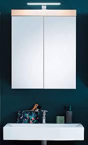 badezimmer spiegelschrank in eiche asteiche amanda 60 x 77