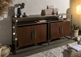 sideboard mango 183x46x86 braun lackiert stilmöbel 130