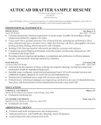 Sample Autocad Drafter Resume New Draftsman Cover Letter