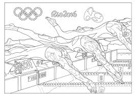 Rio Olympic Games Swimming Coloring Pages For Adult