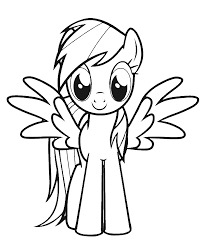 Rainbow Dash Color Page Coloring Pages Fly Sheet Cute My Little Pony