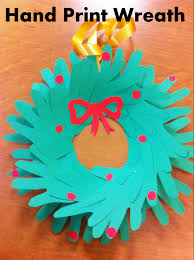 Christmas Craft For Kids Hand Print Wreath