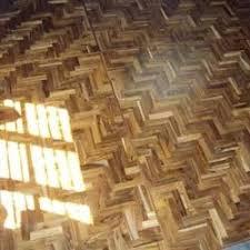Teak Parquet Mosaic Flooring