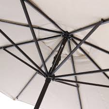9 Ft Patio Umbrella Frame by 9 Ft Market Umbrella With Tilt And Crank With Beige And White